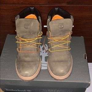Olive green Timberland Boots